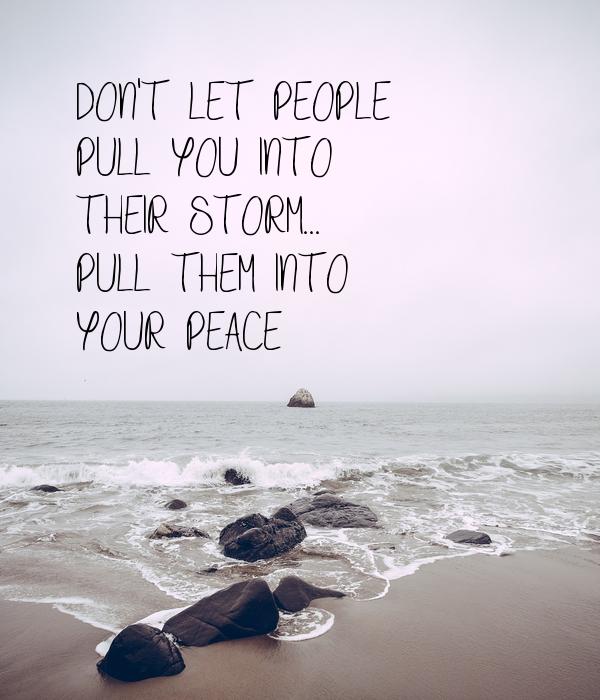 Ziehe sie in deinen Frieden.